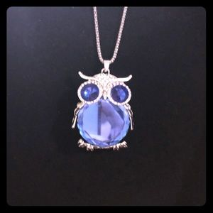 Jewelry - Blue Owl Pendant With Chain